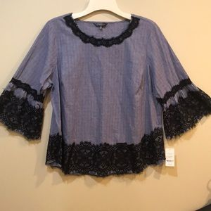 Hannah top with lace. NWT!